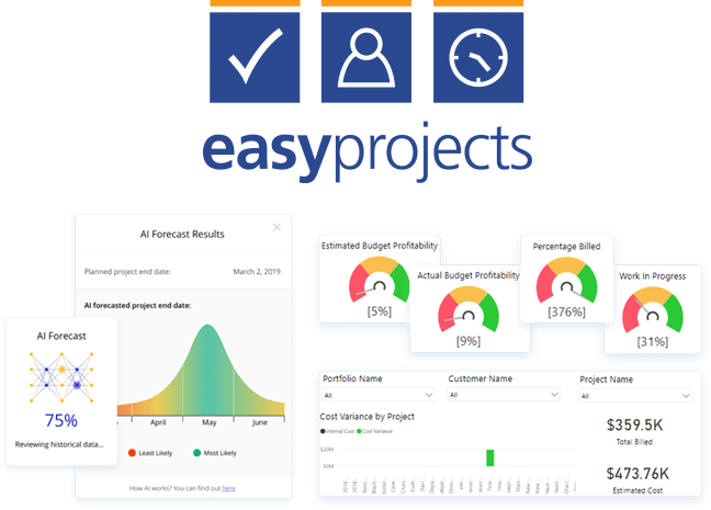 Easy Projects, Easy Projects screenshots