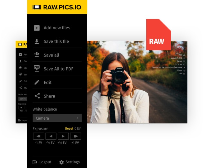 📷 Convert RAW to JPG online with Raw pics io RAW free converter and