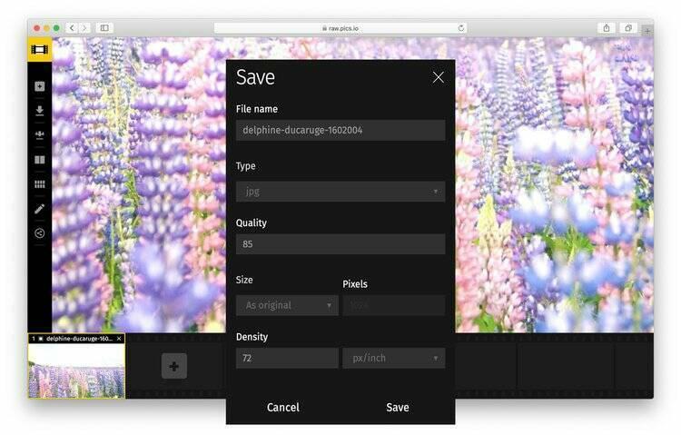 Use Raw.pics.io - online photo brightener