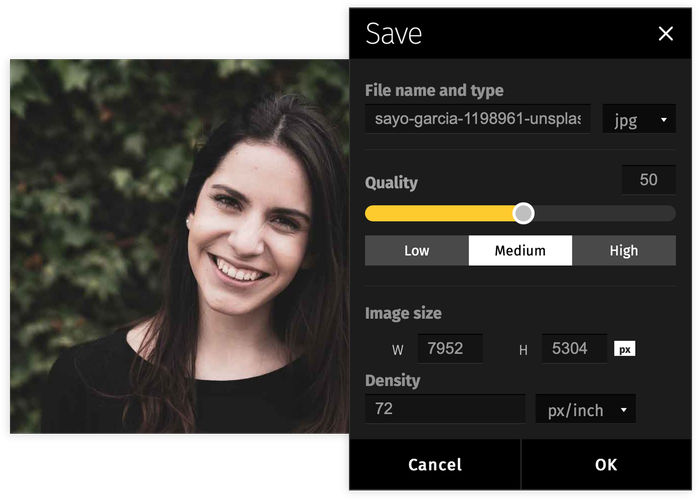 Photo compression speedens up communication and sharing information