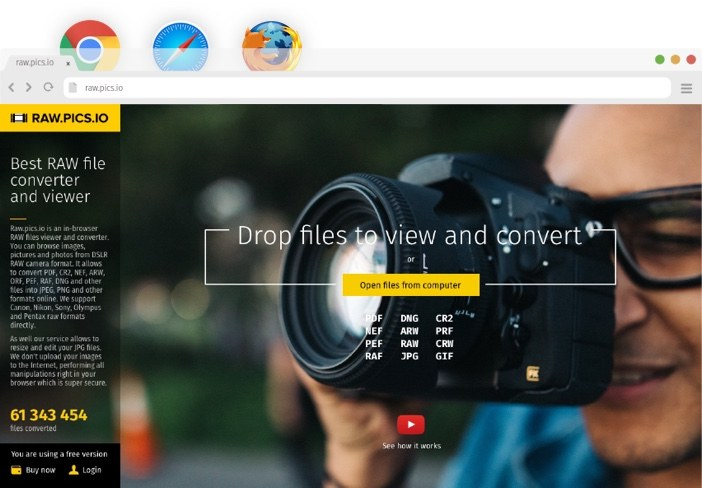 📷 Convert NEF to JPG online with Raw pics io NEF free converter and