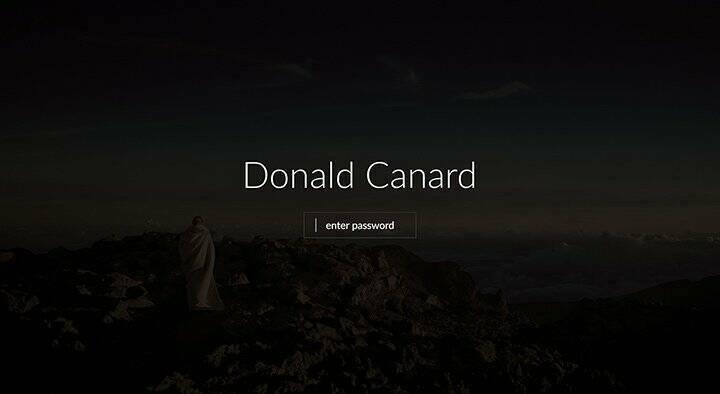 protected website for designer